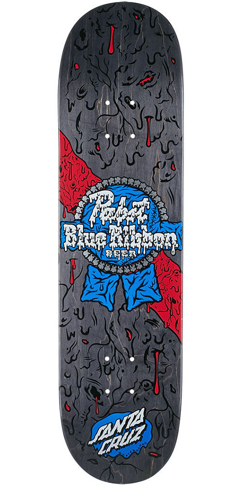 Santa Cruz PBC PBR Slime out Team - Black  - 8.00in x 31.6in - Skateboard Deck