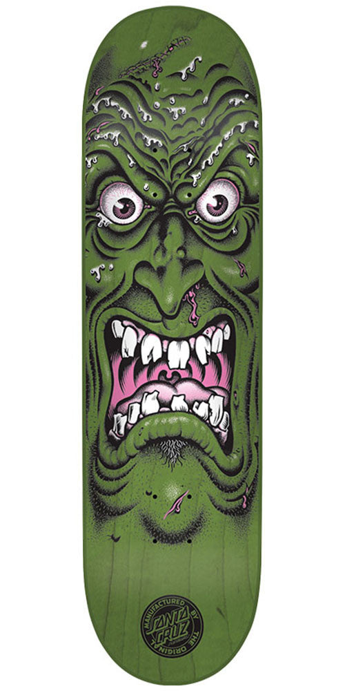Santa Cruz Rob Face Team - Green - 7.8in x 31.7in - Skateboard Deck