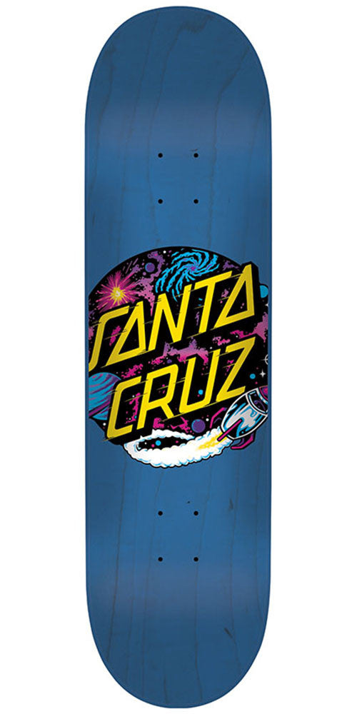 Santa Cruz Space Dot Hard Rock Maple - Blue - 7.5in x 31in - Skateboard Deck