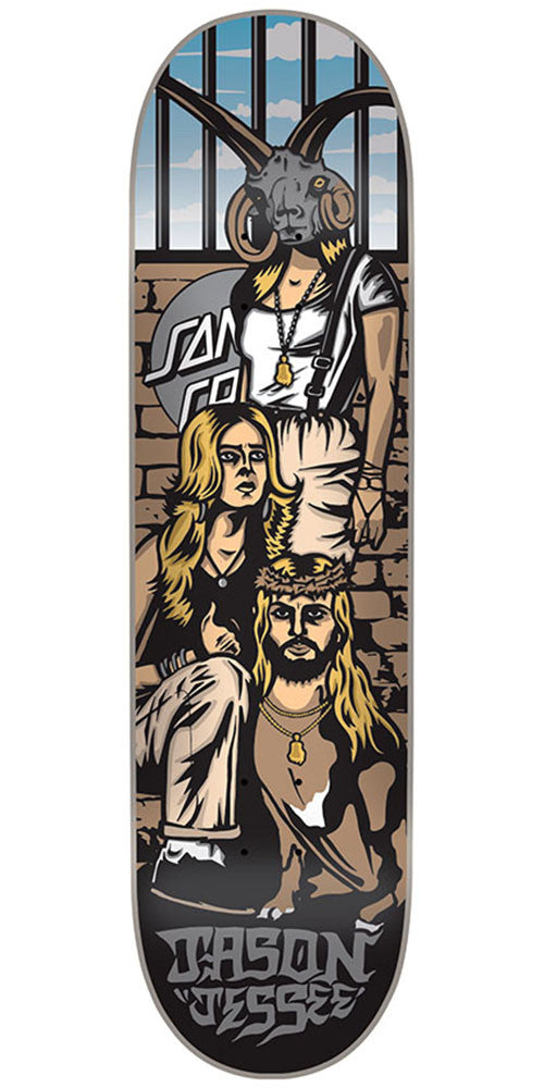 Santa Cruz Jessee Tribute Pro - Multi - 8.5in x 32.2in - Skateboard Deck