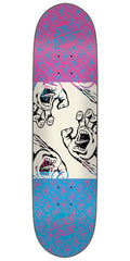 Santa Cruz Many Hands Twin Tip - Pink/Blue - 8.25in x 32.0in - Skateboard Deck