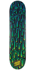 Santa Cruz SC Drip - Black/Green - 7.25in x 29.9in - Skateboard Deck