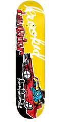 Krooked Drehobl Sk8loco Lowrider - Yellow - 8.18in x 31.84in - Skateboard Deck
