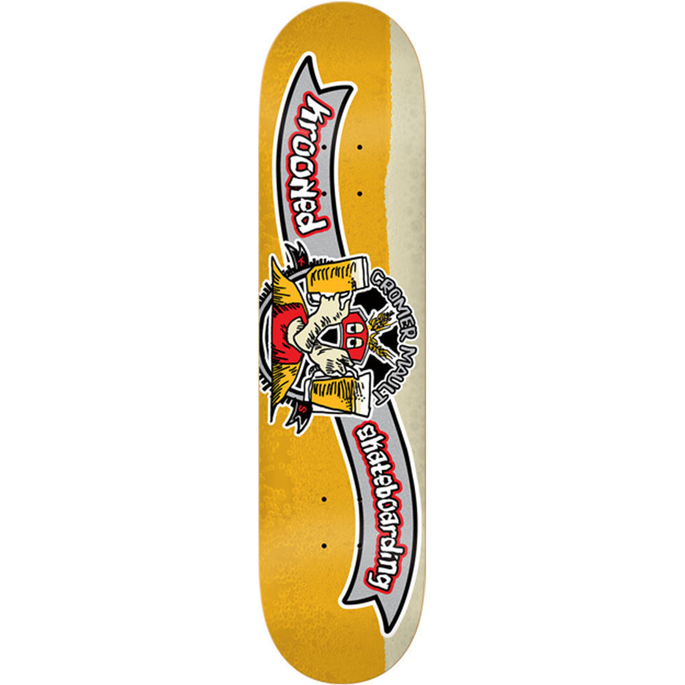 Krooked Cromer Kraft Brew - Gold - 8.06in x 32.0in - Skateboard Deck