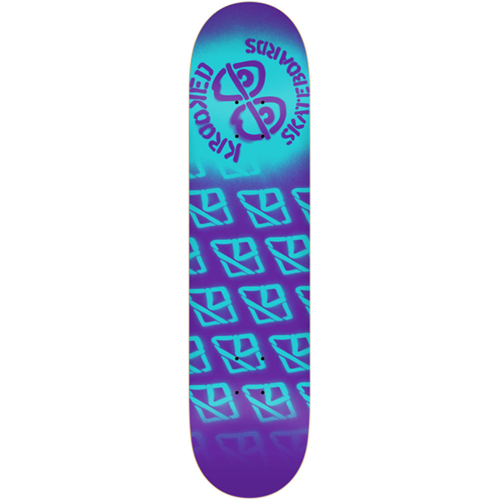 Krooked Difused PP Small - Purple - 7.75in x 31.25in - Skateboard Deck