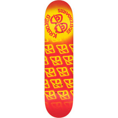 Krooked Difused PP Large - Red - 8.25in x 32.0in - Skateboard Deck