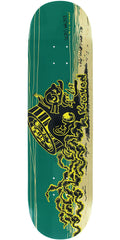 Krooked Sebo Walker Bearinghead - Yellow/Blue - 8.25in x 32in - Skateboard Deck