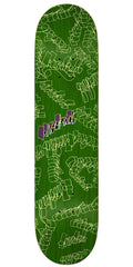 Krooked Skribbles - Green - 7.9in x 31.25in - Skateboard Deck