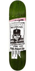 Krooked Mike Anderson Missing - Green - 8.38in x 32.43in - Skateboard Deck