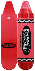 Krooked Krayon - Red - 7.5in x 30.9in - Skateboard Deck