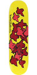 Krooked Birds Slick II - Yellow - 8.06in x 32in - Skateboard Deck