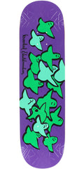 Krooked Birds Slick II - Purple - 8.25in x 32.22in - Skateboard Deck