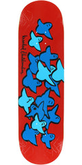 Krooked Birds Slick II - Red - 8.62in x 32.56in - Skateboard Deck