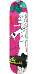 Krooked Dan Drehobl Slip It - Pink - 8.38in x 32.43in - Skateboard Deck