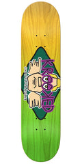 Krooked Dan Arektype Fade - Green/Yellow - 8.5in x 32.25in - Skateboard Deck