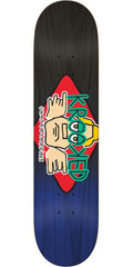Krooked Arketype Fade - Black/Blue - 8.25in x 32in - Skateboard Deck
