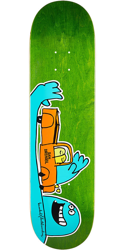 Krooked Drehobl Shortkut - Assorted - 8.12in x 31.25in - Skateboard Deck
