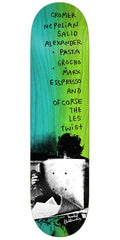 Krooked Cromer Zirox Poems - Green - 8.18in x 32.0in - Skateboard Deck