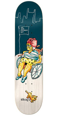 Krooked Drehobl Savior - Blue/White - 8.25in x 32.22in - Skateboard Deck