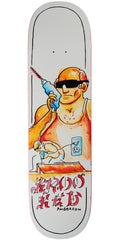 Krooked Anderson Sk8 Dad - White - 8.5in x 32.62in - Skateboard Deck
