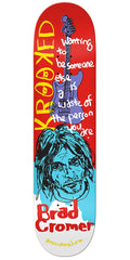 Krooked Cromer Tim Kerr Guest Artist - Red - 8.38in x 32.25in - Skateboard Deck