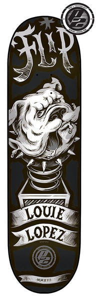 Flip Lopez Mad Dog P2 - Black/White - 31.5in x 8.1in - Skateboard Deck