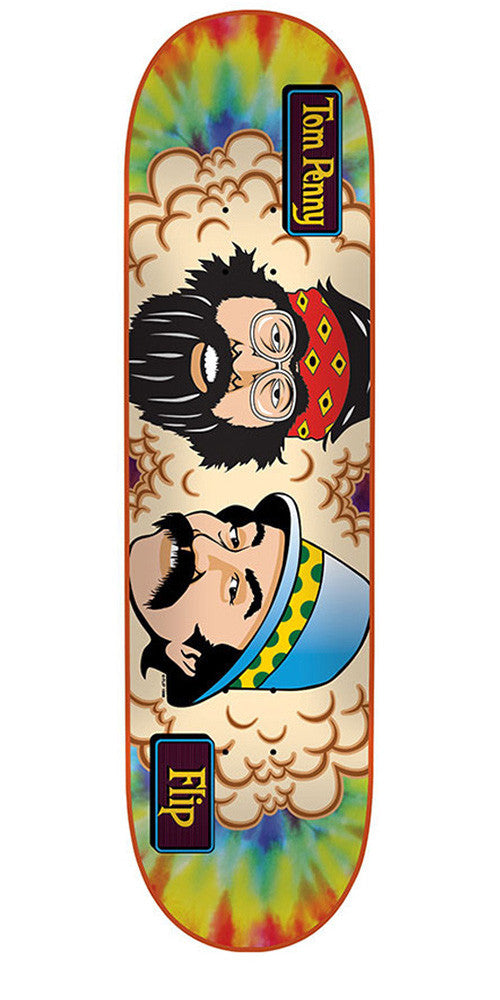 Flip Cheech And Chong Penny - Tie Dye - 32in x 8.13in - Skateboard Deck