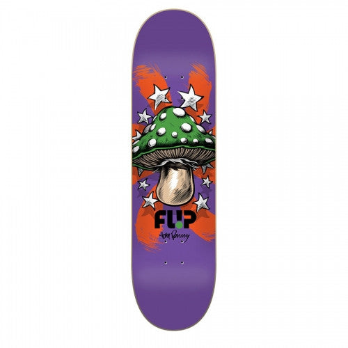 Flip Penny Power Up - Purple - 8in x 31.5in - Skateboard Deck
