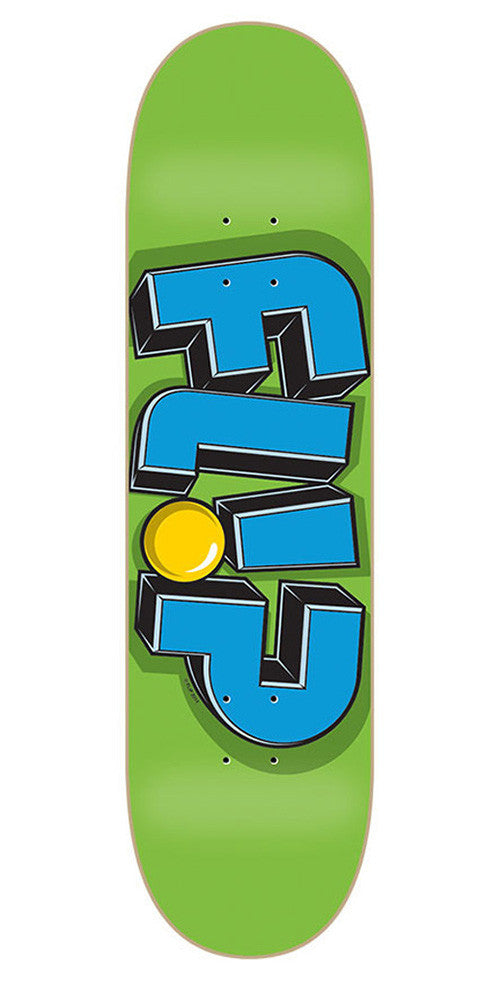 Flip Odyssey Jumbled Green - Green/Blue - 8.5in x 32.75in - Skateboard Deck