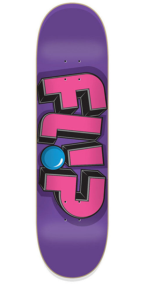 Flip Odyssey Jumbled Purple - Purple/Pink - 8.4in x 32.5in - Skateboard Deck