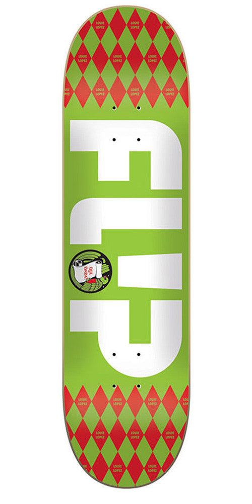 Flip Lopez Argyle Series - Green - 8.0in x 31.5in - Skateboard Deck