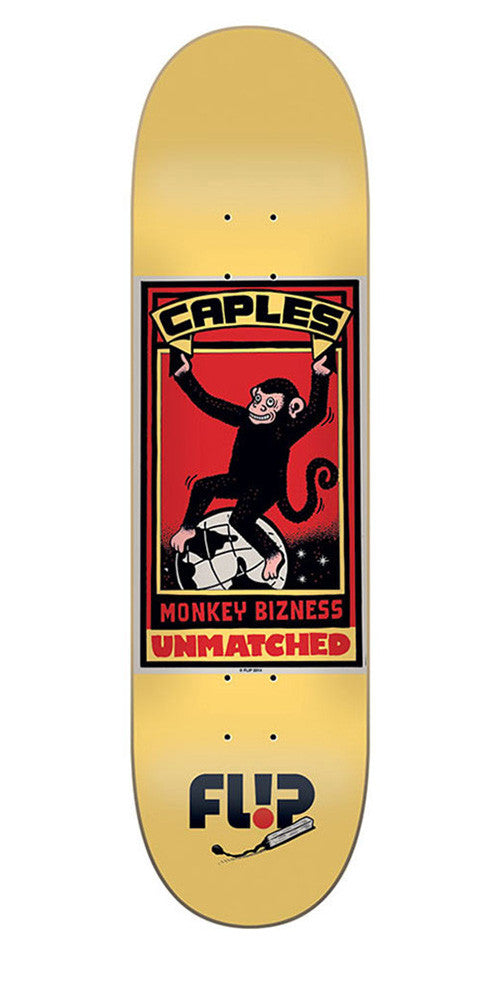 Flip Caples Unmatched Series - Gold - 8.25in x 31.5in - Skateboard Deck