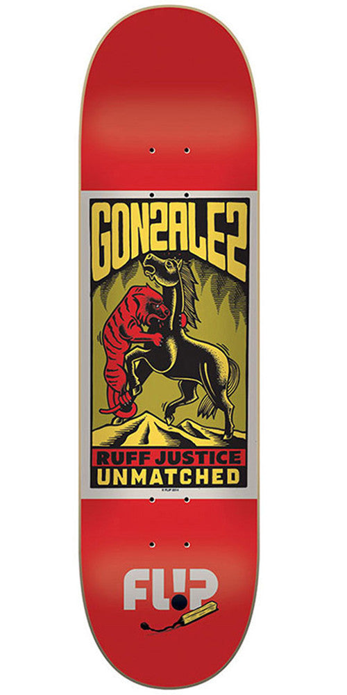 Flip Gonzalez Unmatched Series - Red - 8.0in x 31.5in - Skateboard Deck