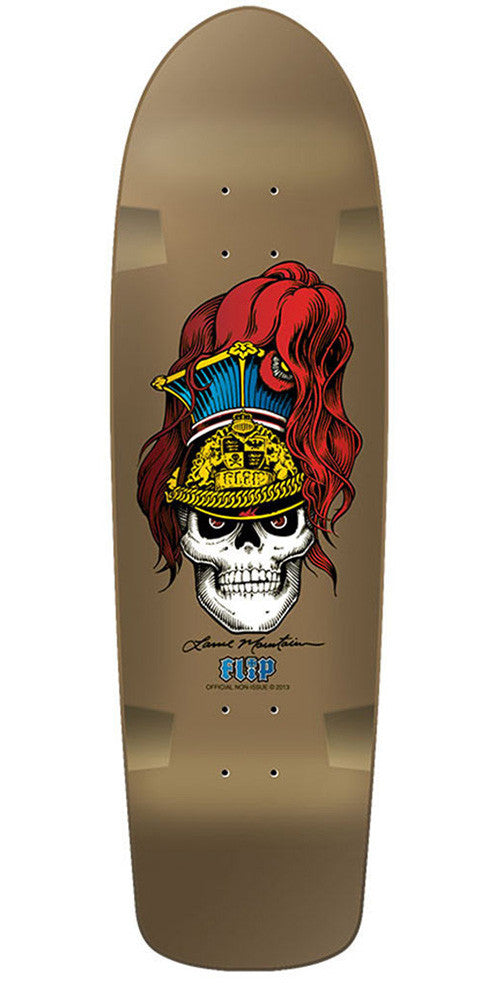 Flip Mountain Brigadier - Metallic Gold - 9.5 x 32.75in - Skateboard Deck