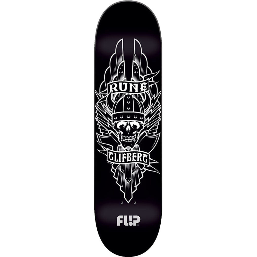Flip Glifberg Viking - Black - 32.75in x 8.5in - Skateboard Deck