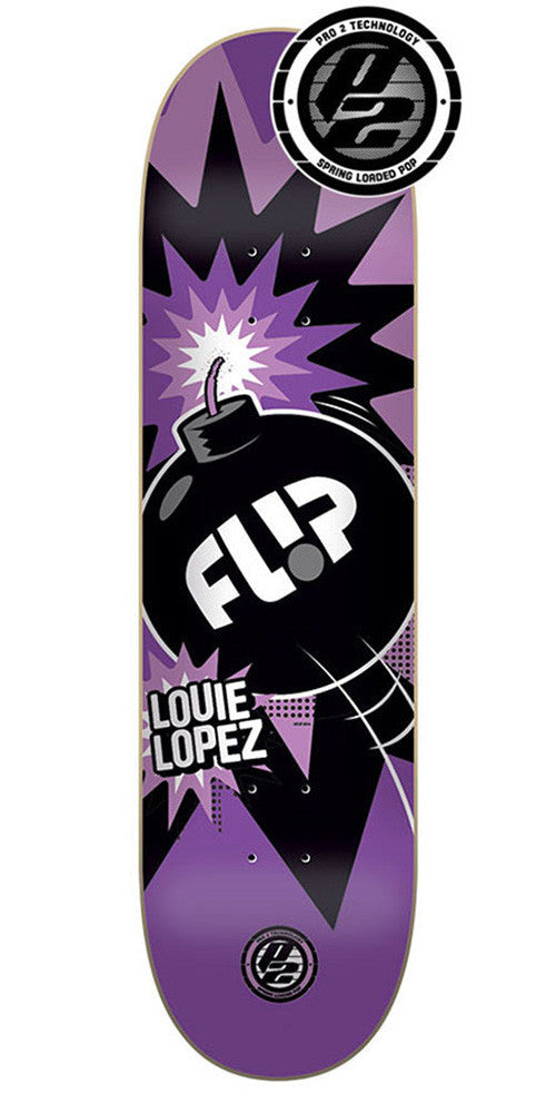 Flip Lopez Boom P2 - Purple - 31.5in x 8.0in - Skateboard Deck