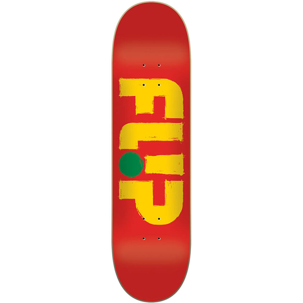 Flip Team Odyssey Stroked Brick - Red - 32.31in x 8.25in - Skateboard Deck