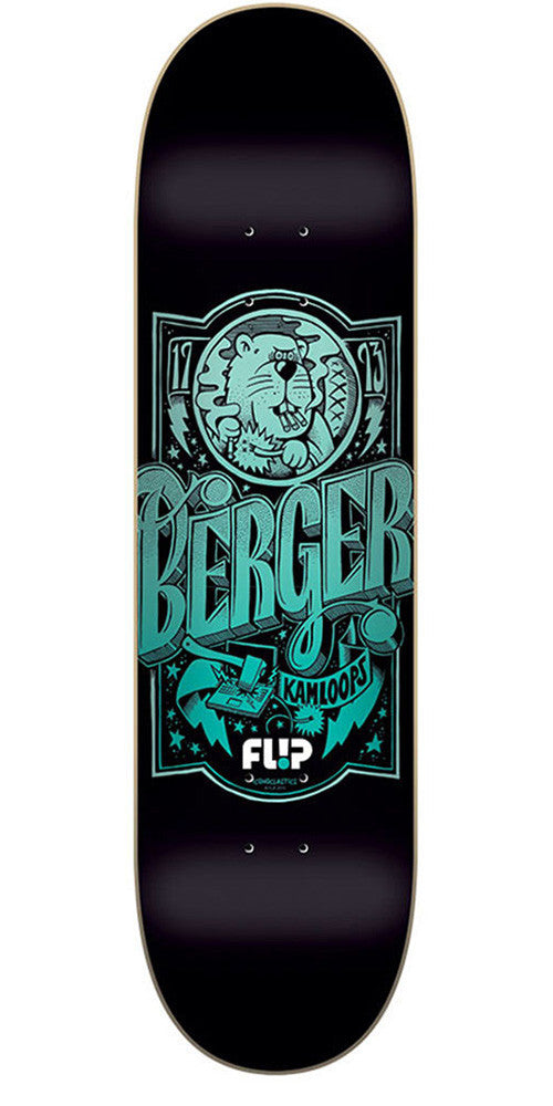 Flip Berger Iconoclastics Series - Black - 31.5in x 8.0in - Skateboard Deck