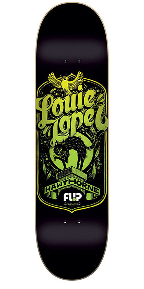 Flip Lopez Iconoclastics Series - Black - 32.0in x 8.13in - Skateboard Deck