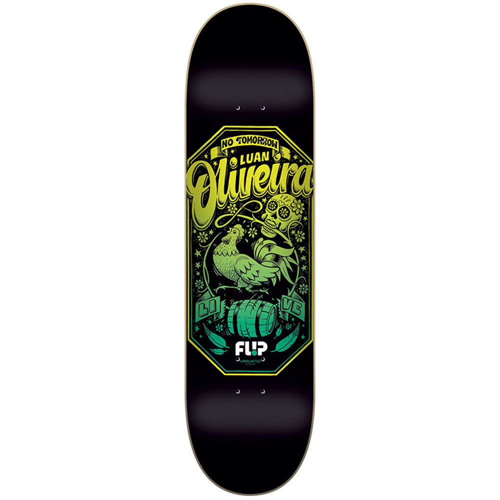 Flip Oliveira Iconoclastics Series - Black - 32.0in x 8.13in - Skateboard Deck