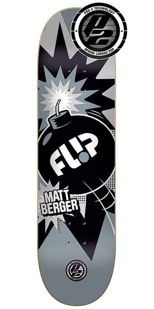 Flip Berger Boom P2 - Black/Grey - 31.5in x 8.0in - Skateboard Deck