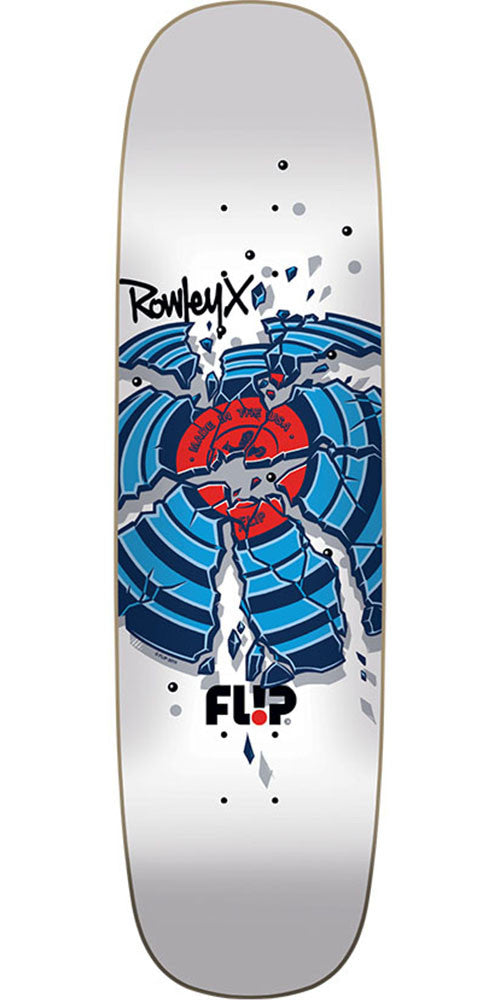 Flip Rowley Crackshot - White - 31.25in x 8.44in - Skateboard Deck