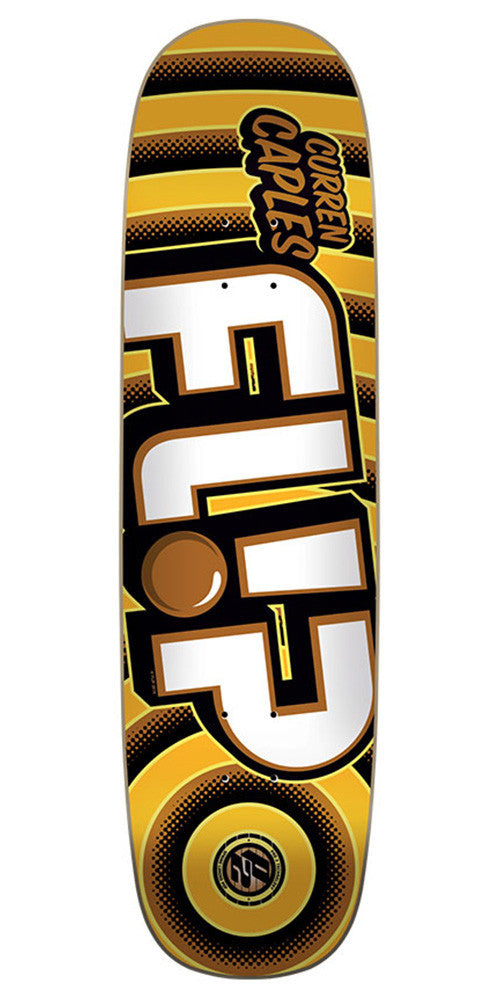 Flip Caples Odyssey Bold Pro P2 - Yellow - 31.25in x 8.44in - Skateboard Deck