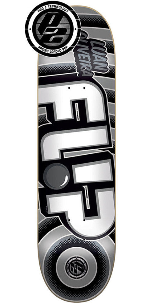 Flip Oliveira Odyssey Bold Pro P2 - Silver - 32.0in x 8.13in - Skateboard Deck