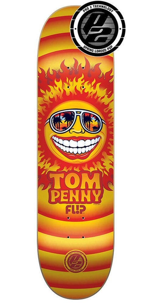 Flip Penny Sun Pro P2 - Orange - 31.5in x 8.0in - Skateboard Deck
