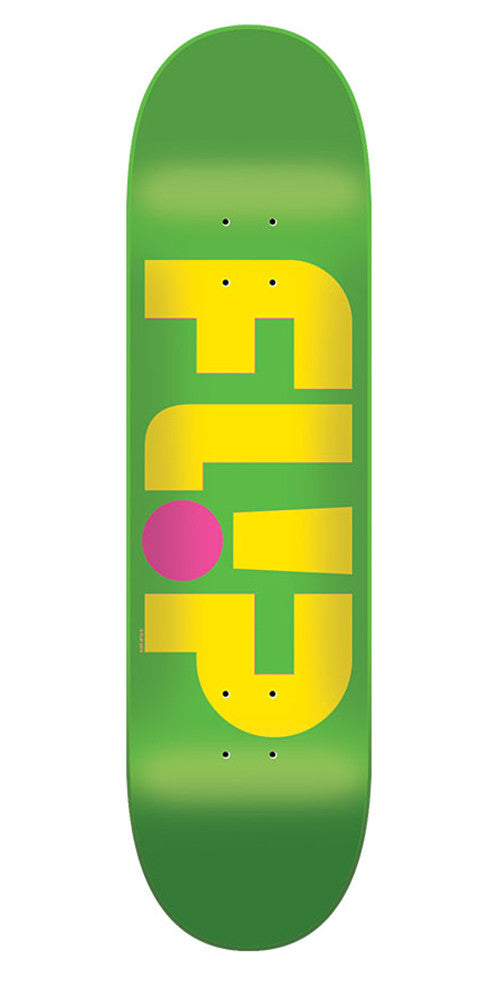 Flip Odyssey Logo Day Glo Team - Green - 32.0in x 8.13in - Skateboard Deck
