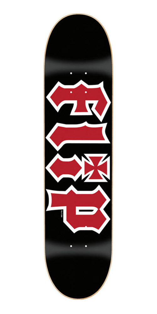 Flip Team HKD - Black - 31.63in x 7.75in - Skateboard Deck
