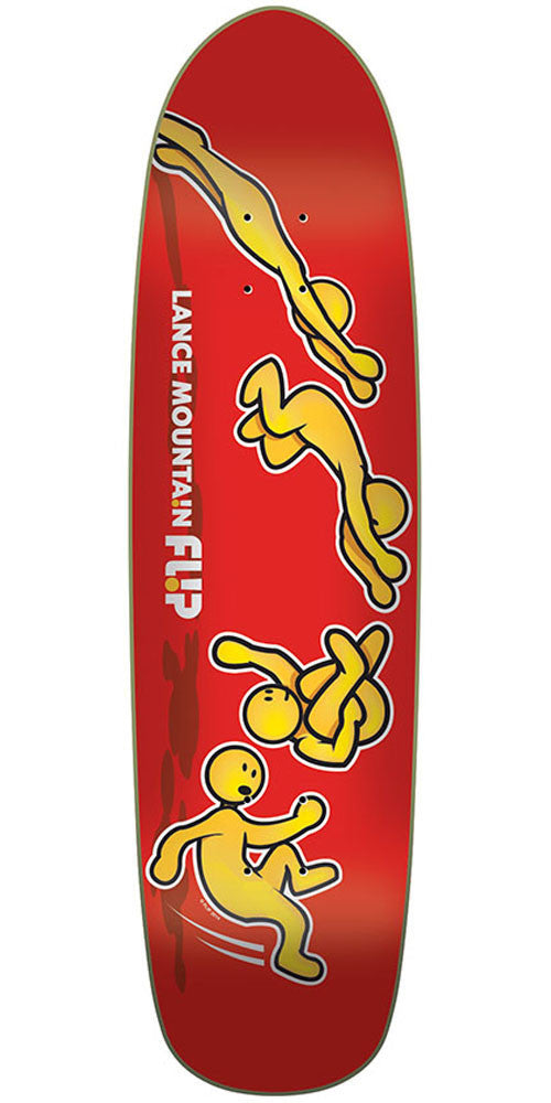Flip Mountain Doughboy Somersault Pro - Red - 32.5in x 8.63in - Skateboard Deck