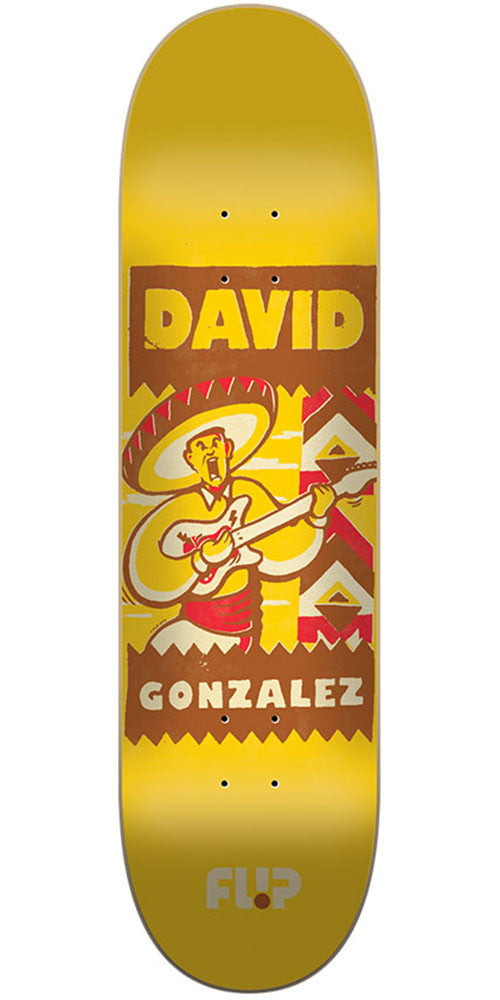Flip Gonzalez Vintage Pro - Yellow - 31.5in x 8.0in - Skateboard Deck