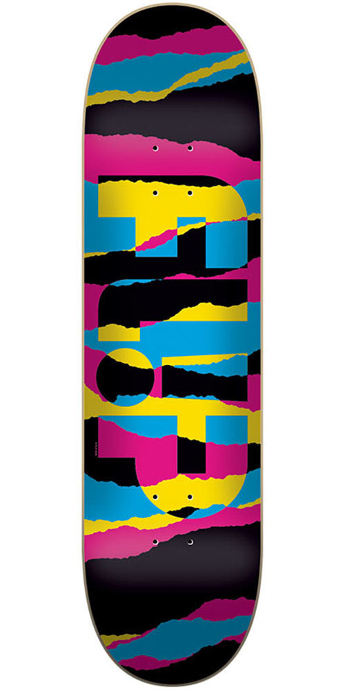 Flip Odyssey Torn Neon Team - Multi - 31.5in x 8.0in - Skateboard Deck